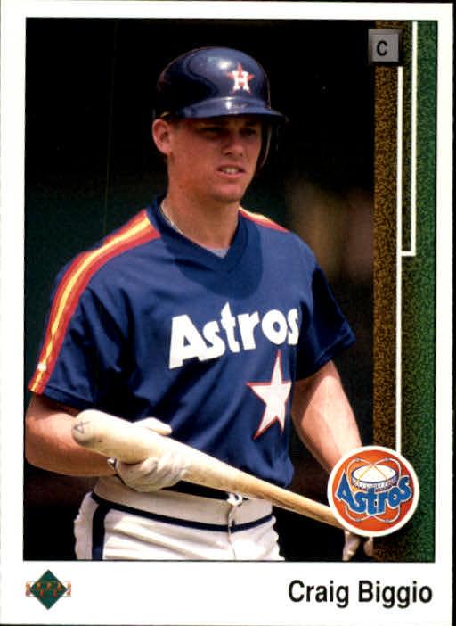 1989 Score #237 Craig Biggio Houston Astros RC Rookie Baseball Card