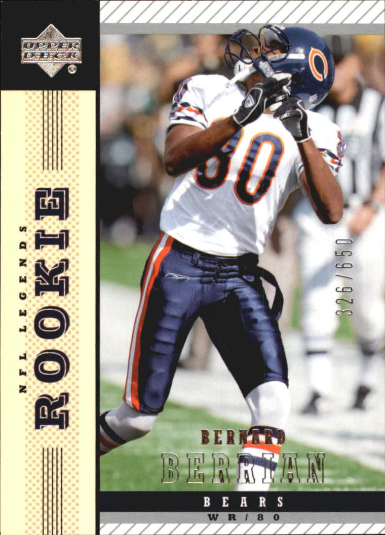 Buy Bernard Berrian Cards Online | Bernard Berrian Football