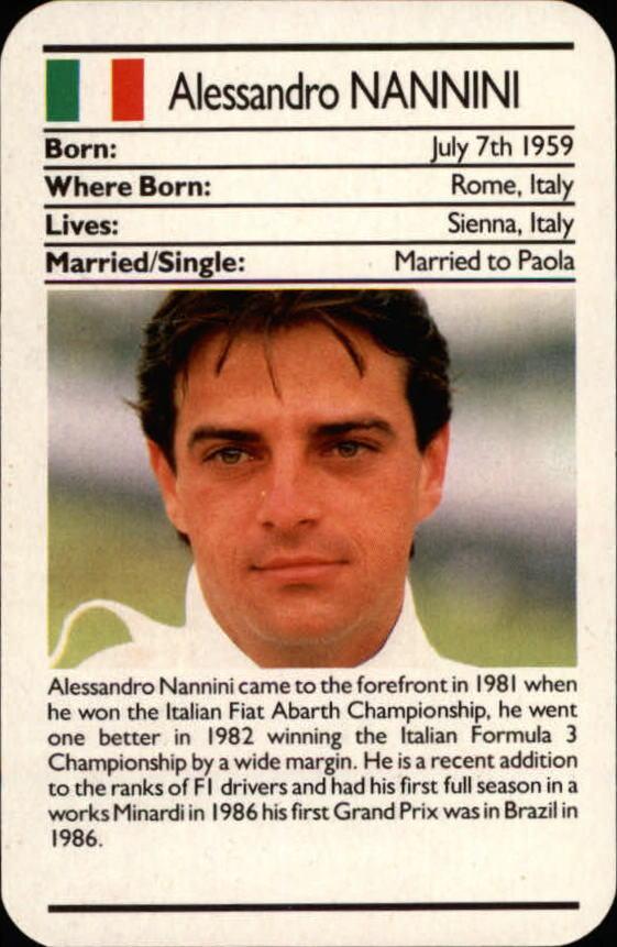 Buy Alessandro Nannini Cards Online   Alessandro Nannini