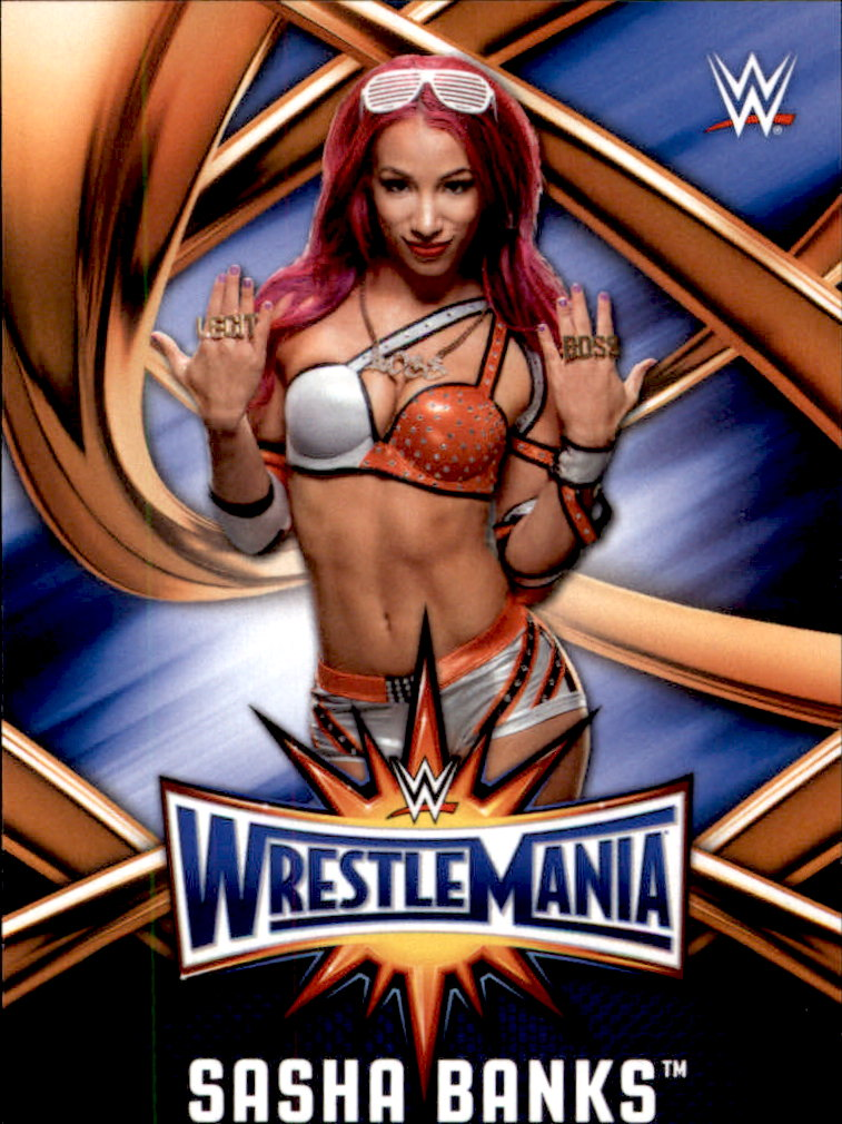 2015 Topps Heritage WWE Black #109 Sasha Banks Rookie Wrestling Card