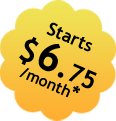 Starts $6.75/month